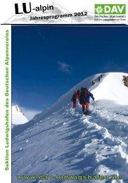 LU-alpin 1/2004 - Deutscher Alpenverein Sektion Ludwigshafen eV