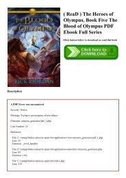 ( ReaD ) The Heroes of Olympus  Book Five The Blood of Olympus PDF Ebook Full Series