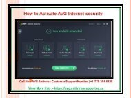 How to Activate AVG Internet security?