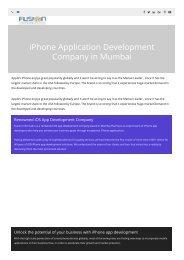 ios app development company in Mumbai