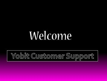 YOBIT SUPPORT NUMBER +1844-617-9531 USA TOLL-FREE