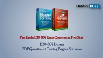 Valid E20-807 Exam VCE PDF New Questions