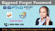 Acquire Exact Solution for Bigpond Error| Forgot Bigpond Password 1-800-980-183
