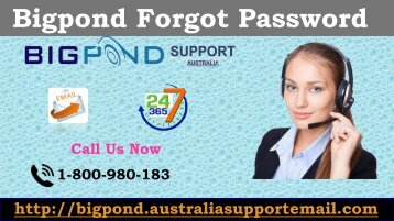 Acquire Exact Solution for Bigpond Error| Forgot Bigpond Password 1-800-980-183