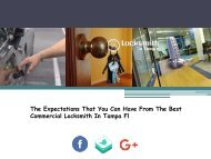 The Expectations That You Can Have From The Best Commercial Locksmith In Tampa Fl