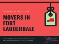 Best Movers in Fort Lauderdale, USA | Forward Van Lines