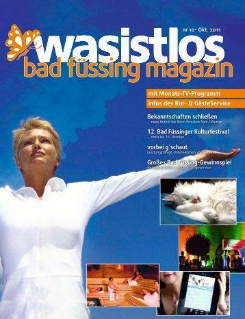 Ausgabe Oktober 2011 - Badfuessing-erleBen.de