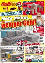 Mehr Möbel für weniger Geld - Rolli SB Möbelmarkt in Elz bei Limburg
