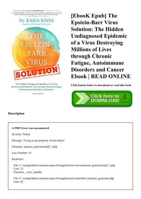 EbooK Epub] The Epstein-Barr Virus Solution The Hidden