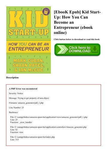 [EbooK Epub] Kid Start-Up How You Can Become an Entrepreneur (ebook online)