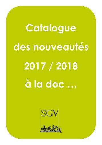 Catalogue des nouveautés 2017-2018