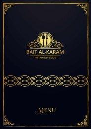 menu english and arabic