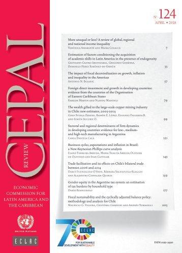 CEPAL Review no. 124