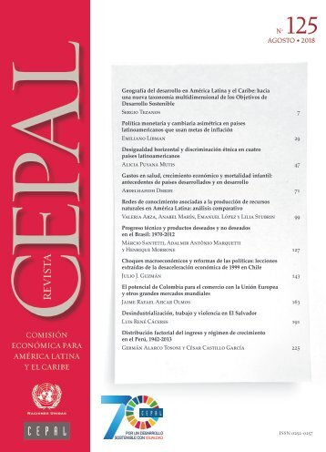 Revista CEPAL no. 125