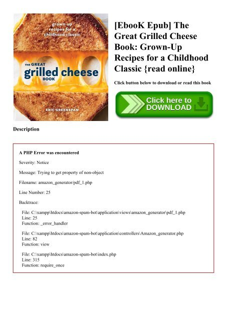 Ebook Epub The Great Grilled Cheese Book Grown Up Recipes