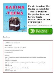 Ebooks download The Baking Cookbook for Teens 75 Delicious Recipes for Sweet and Savory Treats DOWNLOAD EBOOK PDF KINDLE
