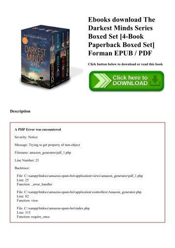 Ebooks download The Darkest Minds Series Boxed Set [4-Book Paperback Boxed Set] Forman EPUB  PDF