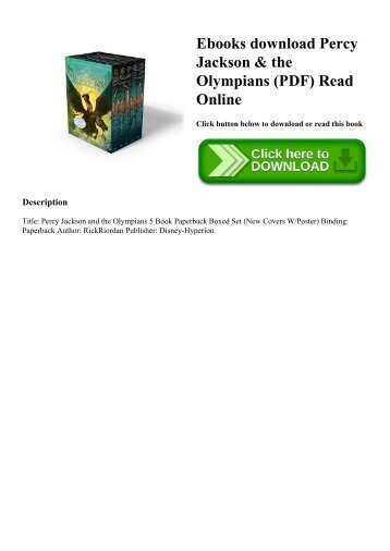 Pdf Download Percy Jackson And The Olympians 5 Book Paperback Boxed