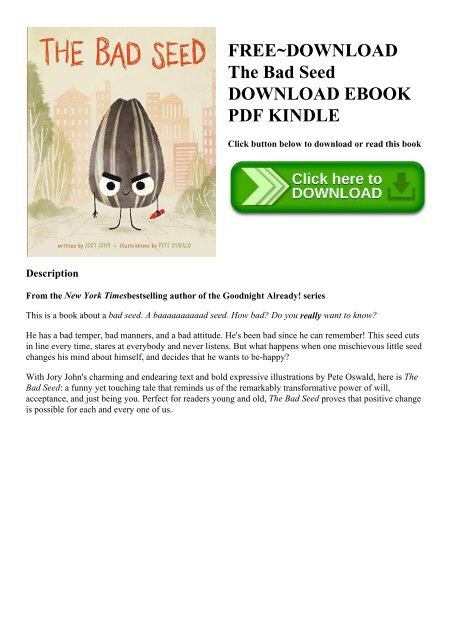 Free Download The Bad Seed Download Ebook Pdf Kindle