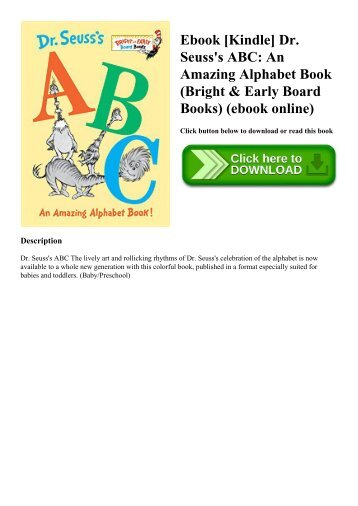 Ebook [Kindle] Dr. Seuss's ABC An Amazing Alphabet Book (Bright & Early Board Books) (ebook online)