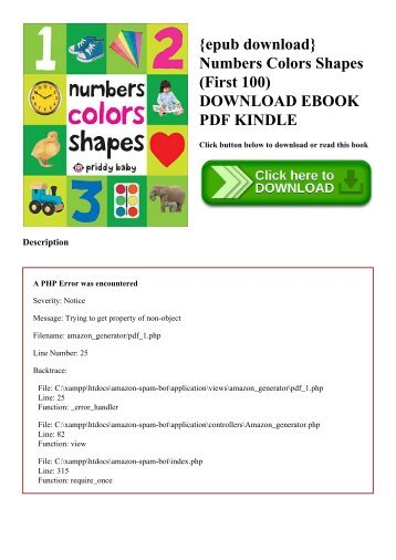 {epub download} Numbers Colors Shapes (First 100) DOWNLOAD EBOOK PDF KINDLE