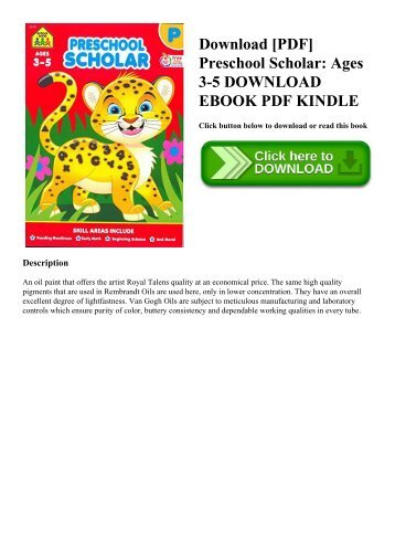 Download [PDF] Preschool Scholar Ages 3-5 DOWNLOAD EBOOK PDF KINDLE