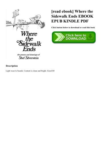 Where The Sidewalk Ends Book Pdf