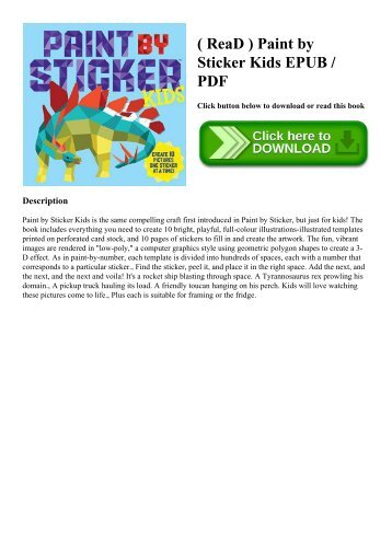 ( ReaD ) Paint by Sticker Kids EPUB  PDF