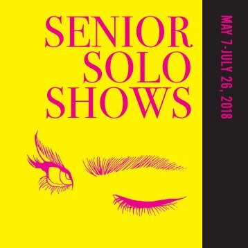 Senior Solo Shows 2018