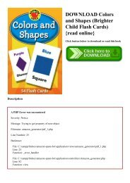 DOWNLOAD Colors and Shapes (Brighter Child Flash Cards) {read online}