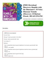 [PDF] Download Discovery Rumble with the Dinosaurs! 10 Noisy Dinosaur Sounds (Discovery 10 Button) Ebook  READ ONLINE