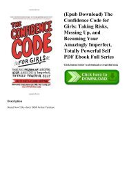 (Epub Download) The Confidence Code for Girls Taking Risks  Messing Up  and Becoming Your Amazingly Imperfect  Totally Powerful Self PDF Ebook Full Series