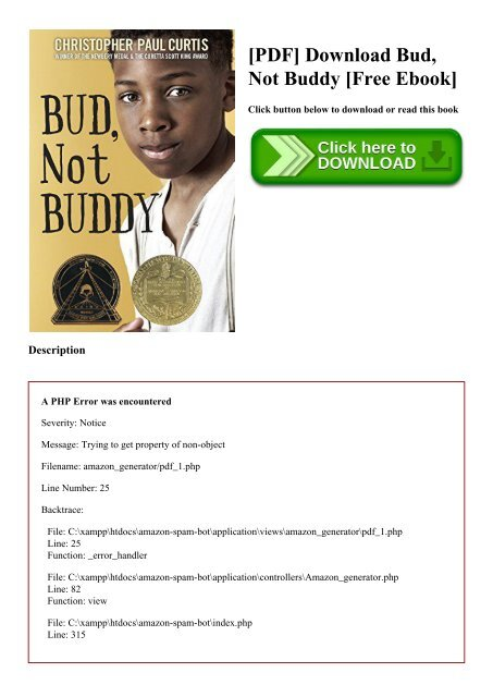 Bud Not Buddy Pdf