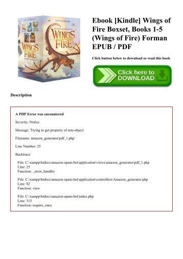 Ebook [Kindle] Wings of Fire Boxset  Books 1-5 (Wings of Fire) Forman EPUB  PDF