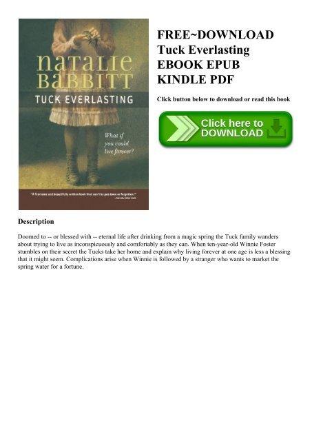 Free Download Tuck Everlasting Ebook Epub Kindle Pdf