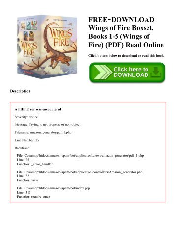 FREE~DOWNLOAD Wings of Fire Boxset  Books 1-5 (Wings of Fire) (PDF) Read Online