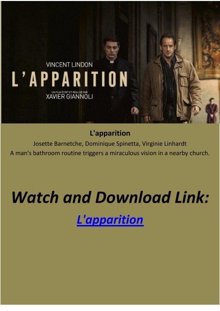 lapparition full movie