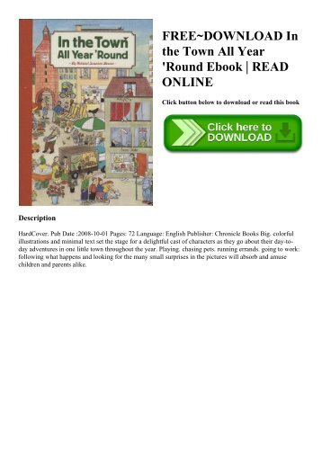 FREE~DOWNLOAD In the Town All Year 'Round Ebook  READ ONLINE