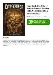Read book The City of Ember (Book of Ember) DOWNLOAD EBOOK PDF KINDLE