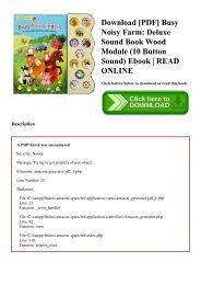 Download [PDF] Busy Noisy Farm Deluxe Sound Book Wood Module (10 Button Sound) Ebook  READ ONLINE