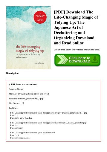 [PDF] Download The Life-Changing Magic of Tidying Up The Japanese Art of Decluttering and Organizing Download and Read online
