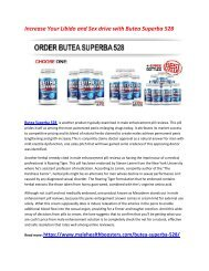 Boost Your Energy Level and stamina with Butea Superba 528
