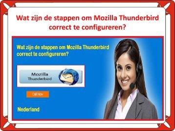 Wat zijn de stappen om Mozilla Thunderbird correct te configureren