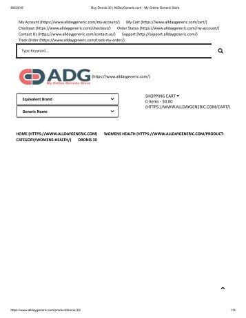 Buy Dronis 30 _ AllDayGeneric.com - My Online Generic Store