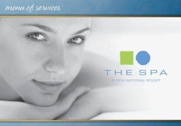menu of services - PGA National Resort & Spa