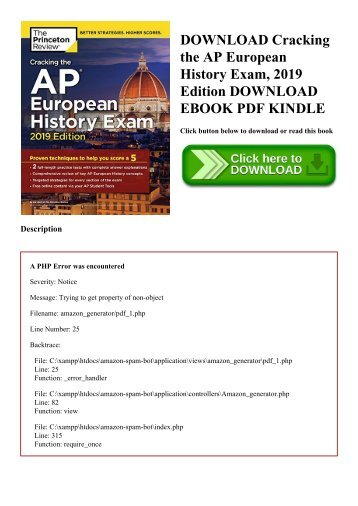 DOWNLOAD Cracking the AP European History Exam  2019 Edition DOWNLOAD EBOOK PDF KINDLE