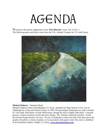 Welcome to the poetry supplement to the 'Past Histories ... - Agenda