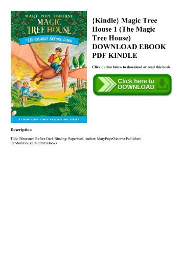 {Kindle} Magic Tree House 1 (The Magic Tree House) DOWNLOAD EBOOK PDF KINDLE