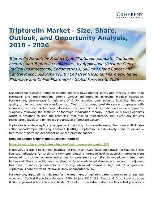 Triptorelin Market Global Forecast to 2026