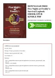 DOWNLOAD FREE Five Nights at Freddy's Survival Logbook EBOOK EPUB KINDLE PDF